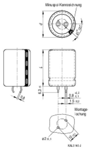 Epcos Alumínium elektrolit kondenzátor B41303-J5478-M (Ø x Ma) 25 mm x 25 mm Raszterméret 10 mm 4700 µF 25 V/DC