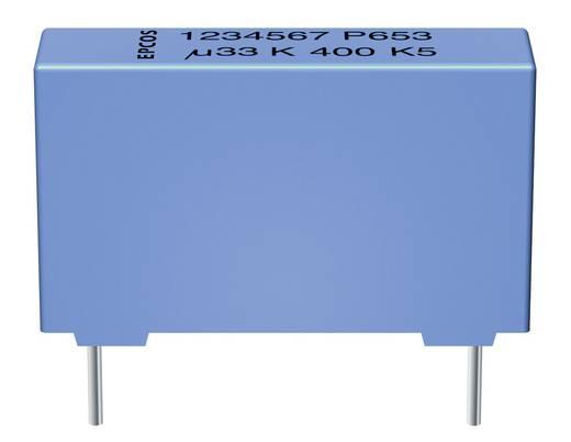 MKP fóliakondenzátor, radiális 0,22 µF 1000 V/DC 5 % 27,5 mm, 31.5 x 11 x 21 mm Epcos Fémes polipropilén kondenzátor