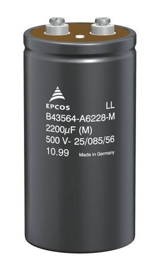 Elektrolit kondenzátor, radiális, álló, 10000 µF 63 V/DC 20 % (Ø x Ma) 35.7 x 80.7 mm Epcos B41456-B8109-M