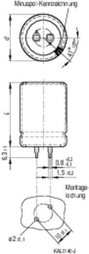 Alumínium elektrolit kondenzátor Epcos B43501-C5107-M Snap-in Ø30 x 25 mm, RM 10 mm 100 µF 450 V/DC