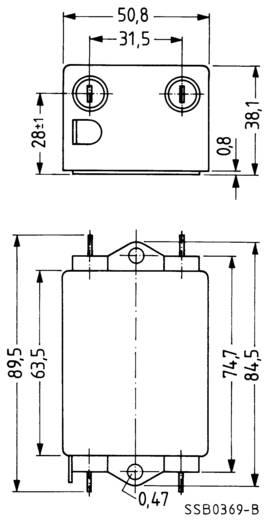 Epcos Hálózati zavarszűrő SIFI B, fokozott csillapítás STANDARD SZŰRŐ, SIFI B, 2X20A 250V 115 - 250 V, 50/60 Hz V 20 A