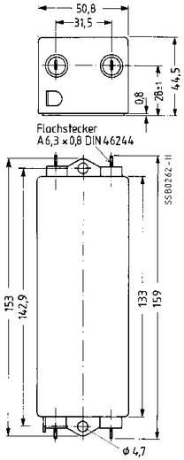 Epcos Hálózati zavarszűrő, SIFI E, nagy csillapítás STANDARD SZŰRŐ, SIFI E, 2X10A 250V 115/250 V/50/60 Hz V 10 A