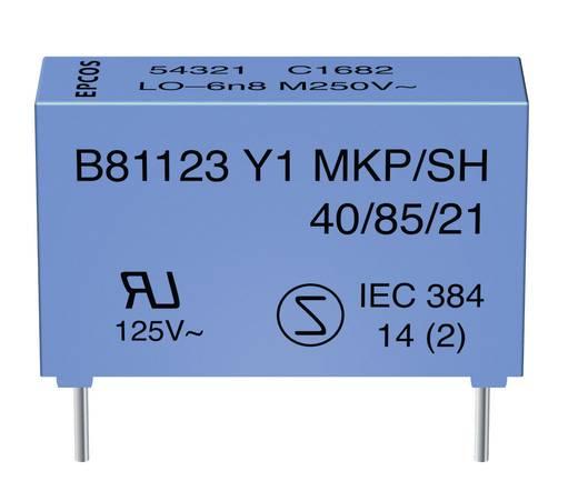 Zavarszűrő kondenzátor Y1, radiális kivezetéssel 2.2 nF 250 V/AC Epcos B81123C1222M 1 db