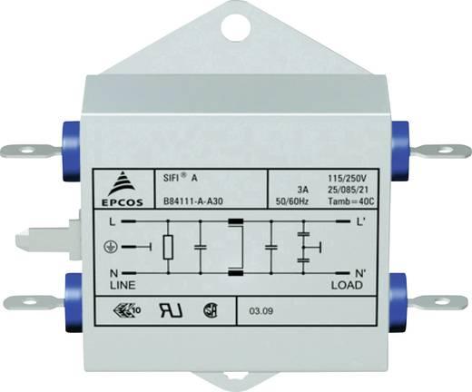 Epcos Hálózati zavarszűrő SIFI A, normál csillapítás STANDARD SZŰRŐ, SIFI A, 2X3A 250V 115/250 V/50-60 Hz 3 A