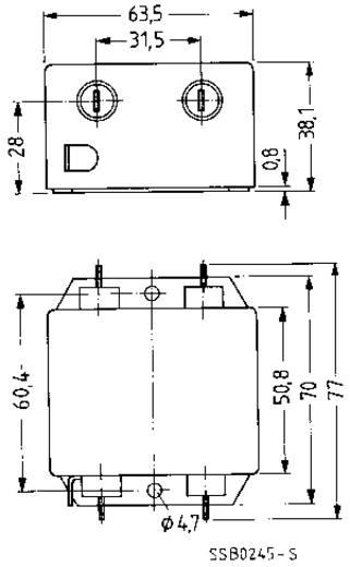 Epcos Hálózati zavarszűrő SIFI A, normál csillapítás STANDARD SZŰRŐ, SIFI A, 2X20A 250V 115/250 V/50-60 Hz 20 A
