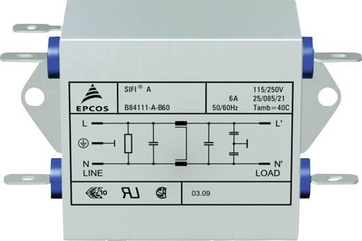Epcos Hálózati zavarszűrő SIFI A, normál csillapítás STANDARD SZŰRŐ, SIFI A, 2X6A 250V 115/250 V/50-60 Hz 6 A