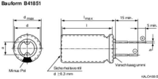 Epcos Radiális kivezetésű kondenzátor GP-típus B41851-A9227-M (Ø x H) 12.5 mm x 25 mm Raszterméret 5 mm 220 µF 100 V/DC