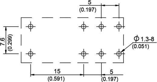 Teljesítmény printrelé 888-as sorozat Song Chuan 888N-2CCFCE 12 12 V/DC 2 váltó 12 A 440 V/AC 3000 VA