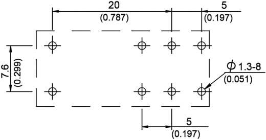 Teljesítmény printrelé 888-as sorozat Song Chuan 888HN-1CCFCE 6 6 V/DC 1 váltó 17 A 440 V/AC 4250 VA