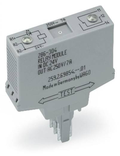 Jelfogó, relé modul 1 váltó WAGO 286-304/004-000
