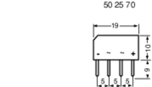 Szilícium hídegyenirányító B250C1500=BY179