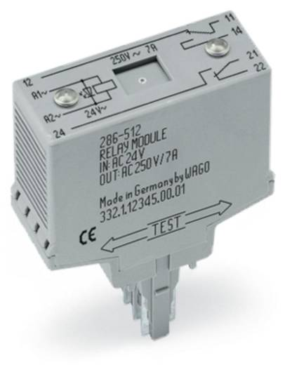 Relé modul 2 váltó, 250 V, WAGO 286-312/004-000
