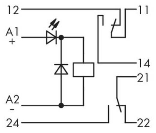 Relé építőelem 2 váltó 250 V, WAGO 286-316