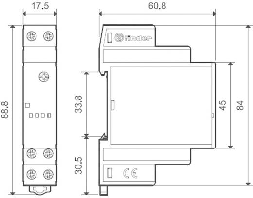 Finder DIN sínes alkonykapcsoló, 230V/AC, 1-100 lux, 1 áramkör, 10.31.8.230.0000