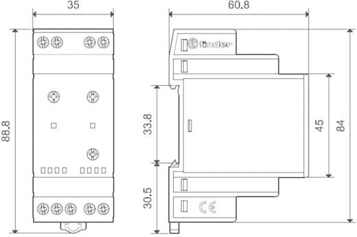 Finder DIN sínes alkonykapcsoló, 230V/AC, 1-80/20-1000 lux, 2 áramkör, 11.42.8.230.0000