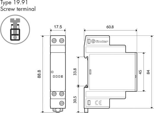 Finder teljesítmény modul alkonykacsolóhoz, 12V/DC, 1 váltó, 19.91.9.012.4000