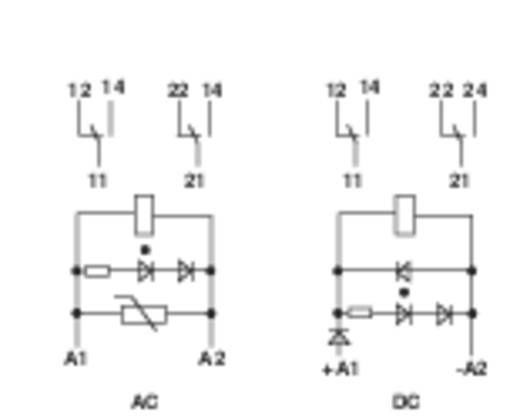 Interfész relé modul, 2 váltó 8 A, Finder 49.52.7.024.0050