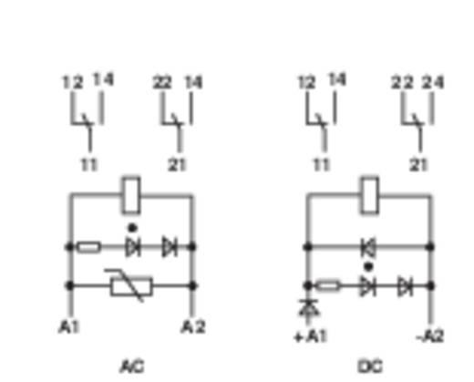 Interfész relé modul, 2 váltó 8 A, Finder 49.52.8.024.0060