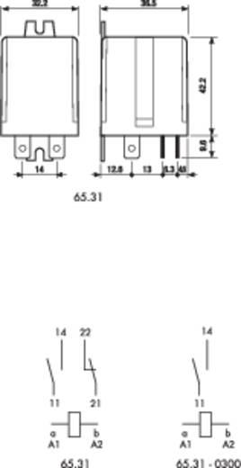 Teljesítmény relé 1 záró + 1 nyitó 20 A, Finder 65.31.9.024.0000