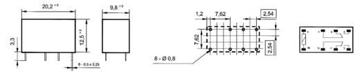 Reléfoglalalt relével, 5VDC REL-PCB3