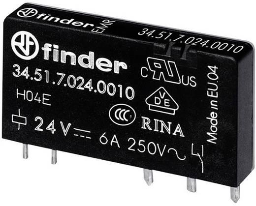 Keskeny dugasz-/nyák relé 12 V/DC 1 váltó, 6 A 24 V/DC/250 V/AC 1500 VA, Finder 34.51.7.012.0010