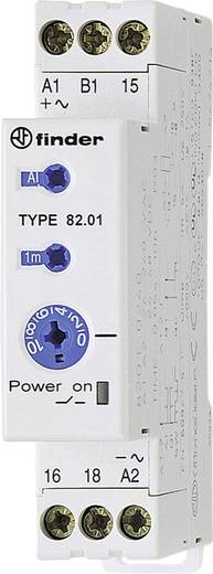 Ipari időrelé, 17,5 mm széles, 24 - 48 V/DC/24 - 240 V/AC 1 váltó, 5 A 250 V/AC/400 V/AC, Finder 82.01.0.240