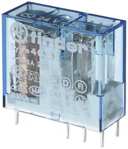 Dugaszolható-/nyák relé 24 V/DC 2 váltó, 8 A 250 V/AC 30 V/DC 2000 VA, Finder 40.52.9.024.5000