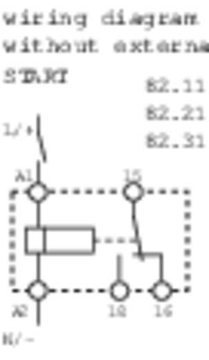 Ipari időrelé, 17,5 mm széles, 24 - 48 V/DC/24 - 240 V/AC 1 váltó, 5 A 250 V/AC/400 V/AC, Finder 82.11.0.240