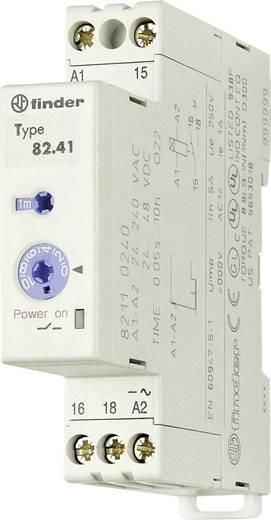 Ipari időrelé, 17,5 mm széles, 24 - 48 V/DC/24 - 240 V/AC 1 váltó, 5 A 250 V/AC/400 V/AC, Finder 82.41.0.240