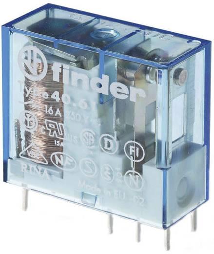 Dugaszolható-/nyák relé 6 V/DC 1 váltó, 16 A 250 V/AC 30 V/DC 4000 VA, Finder 40.61.9.006.0000