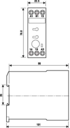Finder DIN sínes ipari időkapcsolórelé, 1 áramkör, 24-48 V/DC, 24-240 V/AC, 87.31.0.240