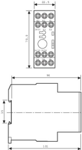 Finder DIN sínes ipari időkapcsolórelé, 1 áramkör, 24-48 V/DC, 24-240 V/AC, 87.02.0.240.0000
