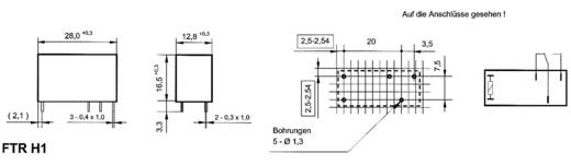 Miniatűr teljesítményrelé, Takamisawa FTR-H1 CD 012 9 - 21,6 V/DC, 300 V/DC, 2500 VA, IP67, 1 váltó, AgSnO2