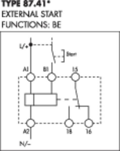 Finder DIN sínes ipari időkapcsolórelé, 1 áramkör, 24-48 V/DC, 24-240 V/AC, 87.41.0.240