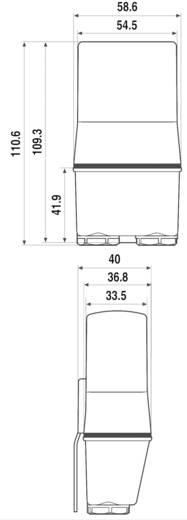 Finder alkonykapcsoló, 230V/AC, 1-80 lux, 2 áramkör, 10.42.8.230.0000