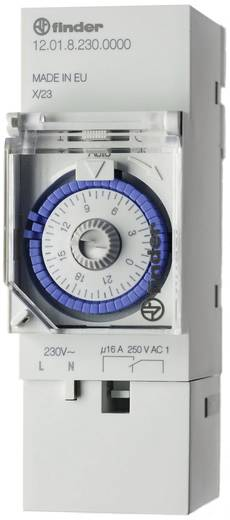 Finder DIN sínes timer időkapcsolórelé, 1 áramkör, 250V/16A, 12.01.8.230.0000