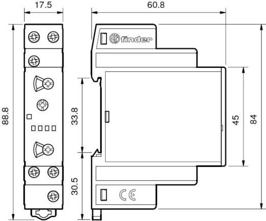 Finder DIN sínes késleltető időkapcsolórelé, 1 áramkör, 400V/16A, 80.11.0.240.0000