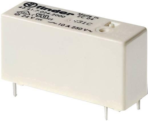 Alacsony nyák relé 24 V/DC 1 váltó 10 A 250 V/AC (AC1)/30 V/DC (AC1) 2500 VA, Finder 43.41.7.024.0000