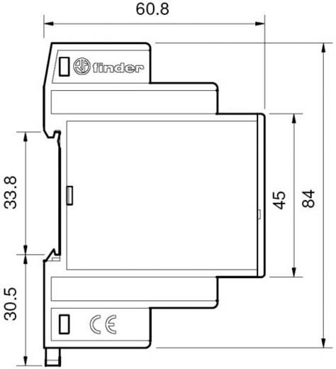DIN sínes többfunkciós lépcsőházi világítás késleltető időkapcsolórelé, 6 funkciós, 230V/16A, Finder 14.01.8.230.0000