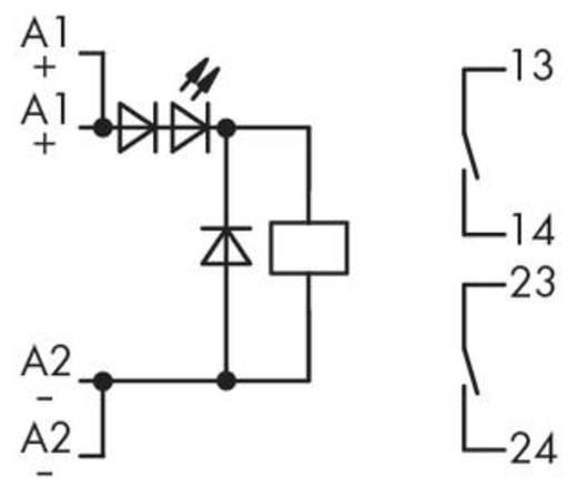 Relé modul 2 záró, WAGO 286-328