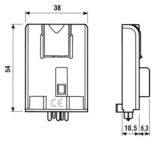 Ipari időkapcsoló modul 12 - 240 V DC/AC, Finder 86.00.0.240