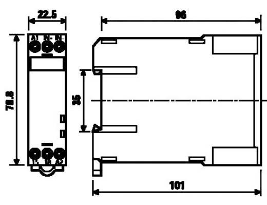 Hőmérséklet felügyeleti relé, PTC-vel, Finder 71.92.8.230.0300