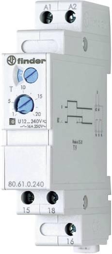 Finder DIN sínes időkapcsolórelé visszaesés késletetés funkcióval, 1 áramkör, 400V/8A, 80.61.0.240.0000