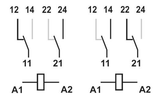 Finder biztonsági relé, 24 V/DC, 400 V/AC 8A, 2 váltós, 50.12.9.024.1000