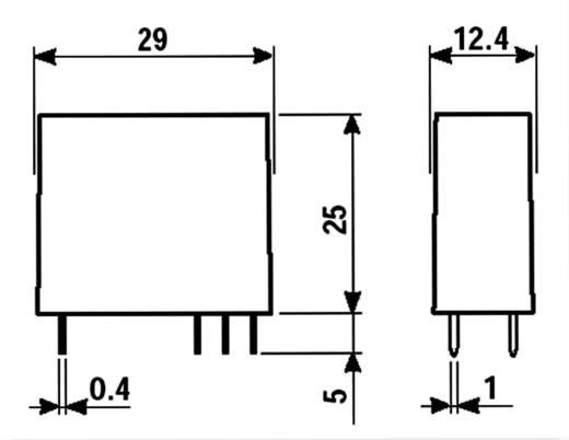 Finder biztonsági relé, 12 V/DC, 400 V/AC 8A, 2 váltós, 50.12.9.012.5000