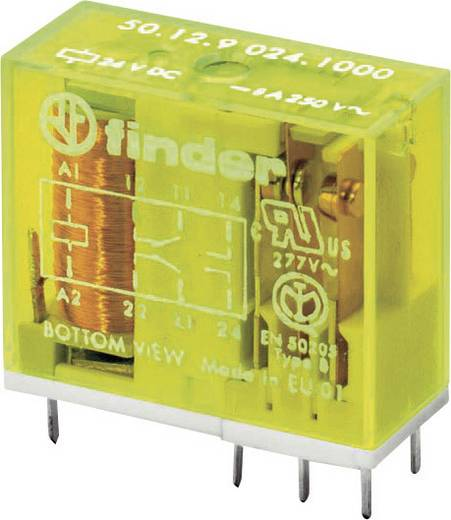 Finder biztonsági relé, 24 V/DC, 400 V/AC 8A, 2 váltós, 50.12.9.024.4000