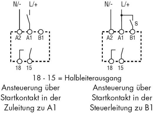 Finder DIN sínes multifunkciós időkapcsolórelé, 1 áramkör, 240V/1A, 80.71.0.240.0000