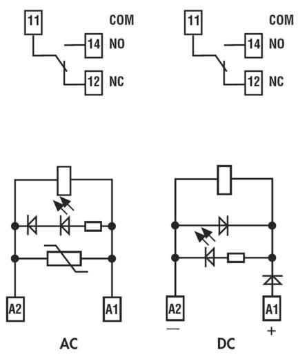 Finder kapcsoló relé, 24V/DC, 1 váltó, 10A, 4C.51.9.024.0050