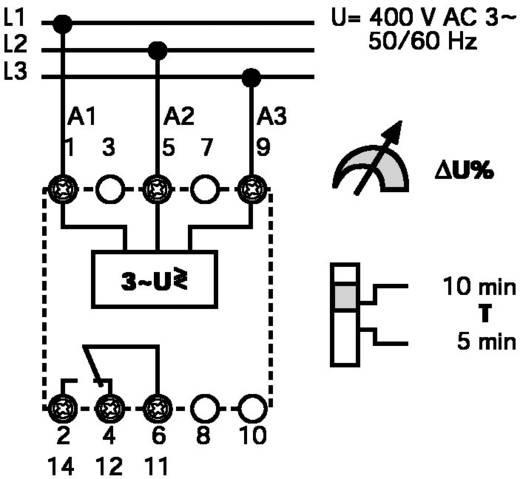 3 fázisú hálózati feszültség figyelő 400 V-50/60 Hz, Finder 71.31.8.400.1010
