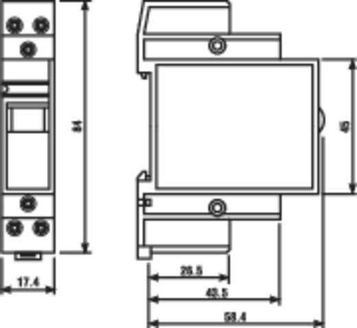 Installációs relé 2 záró, 20 A 250 V/AC, Finder 22.22.8.008.4000